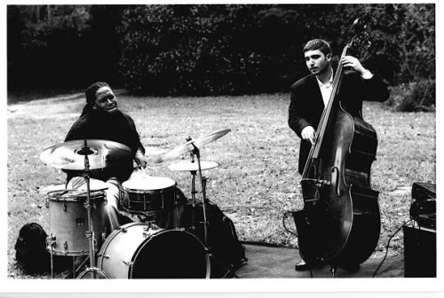 (L to R) Jamison Ross and Nadav Spigelman. The very photoshoot where I captured the Hardbop llama logo, Jamison performed outside (in the cold) with Nadav and FSU faculty pianist Bill Peterson.